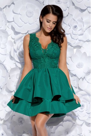 Sukienka z koronkowym gorsetem - zielona