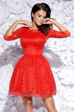 Sukienka koronkowa - czerwona