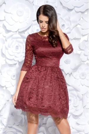 Sukienka koronkowa - bordowa