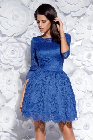 Sukienka koronkowa - niebieska