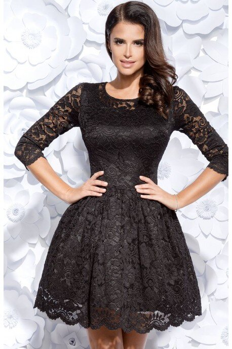 Sukienka koronkowa - czarna