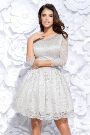Sukienka koronkowa - szara