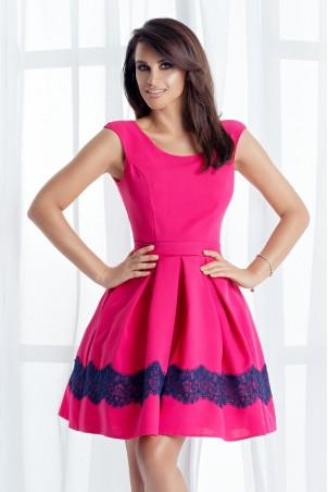 Sukienka balowa z kieszeniami - fuksja