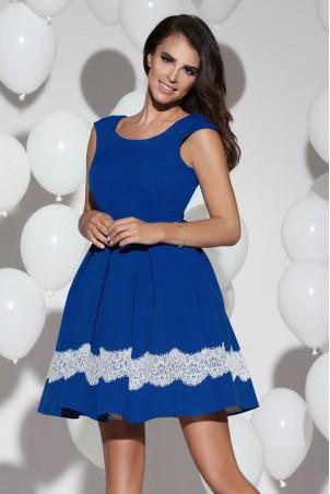 Sukienka balowa z kieszeniami - niebieska