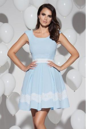 Sukienka balowa z kieszeniami - błękitna
