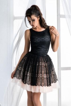 Sukienka z tiulową spódnicą - czarna