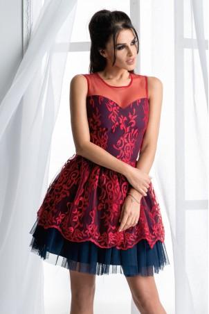 Sukienka księżniczka - czerwona