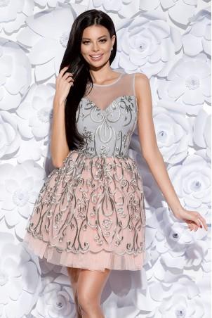 Sukienka księżniczka - szara