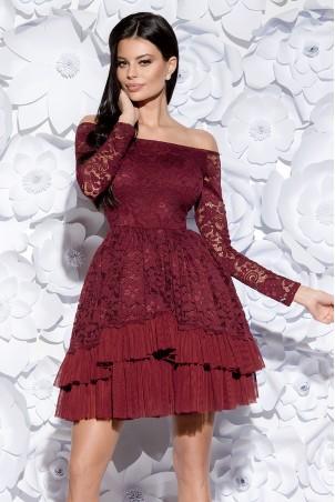 Sukienka Hiszpanka - bordowa
