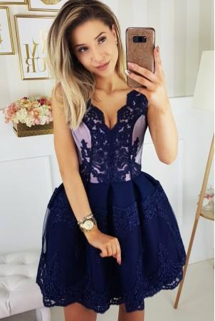 Elegancka sukienka - granatowa