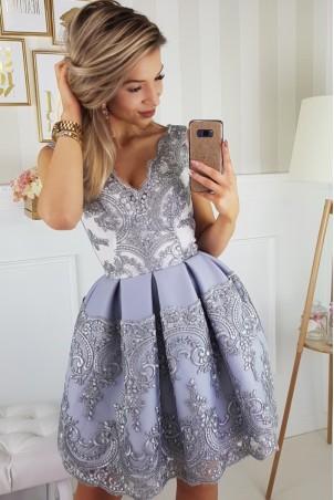 Elegancka sukienka - szara