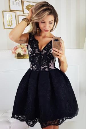 Elegancka sukienka - czarna