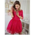 Sukienka koronkowa - fuksja