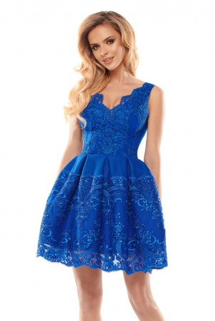 Elegancka sukienka - chabrowa
