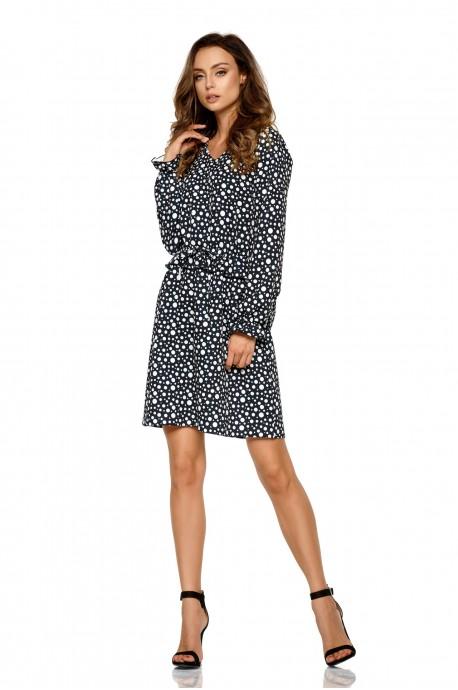 cf293929d6 Dziewczęca sukienka we wzory - czarna - Pretty Clever Sklep internetowy