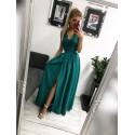 Sukienka wieczorowa Glamour długa - zielona