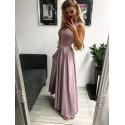 Sukienka wieczorowa Glamour długa - różowa