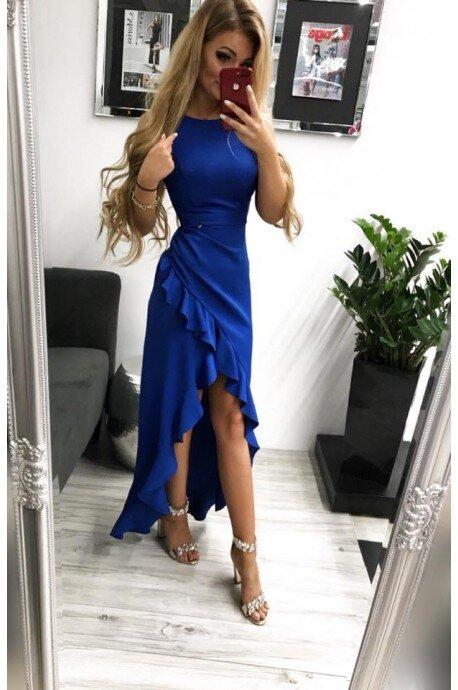 Sukienka wieczorowa Bella - chabrowa