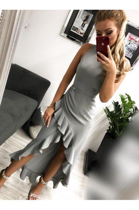 Sukienka wieczorowa Bella - szara