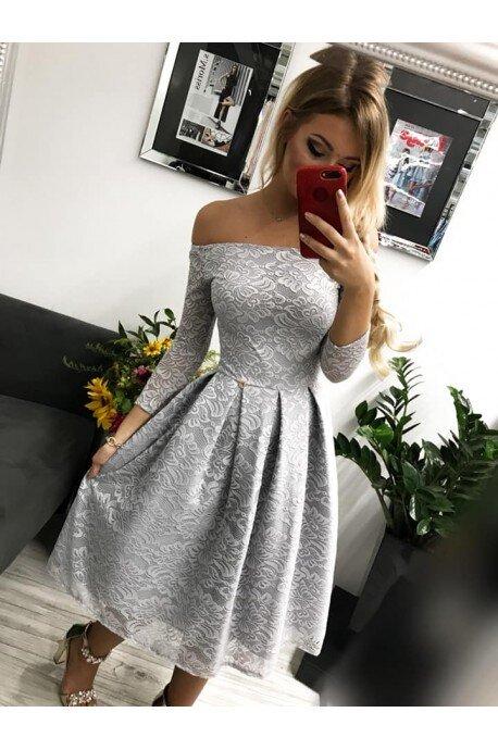 Sukienka wieczorowa Scarlett Midi - szara