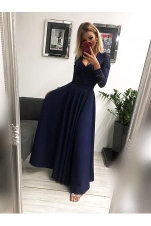 Sukienka wieczorowa Margaret - granatowa