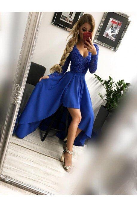 Sukienka wieczorowa Loren - chabrowa