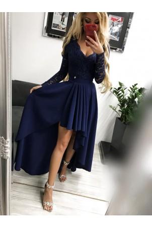Sukienka wieczorowa Loren - granatowa