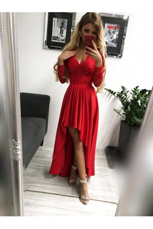 Sukienka wieczorowa Loren - czerwona