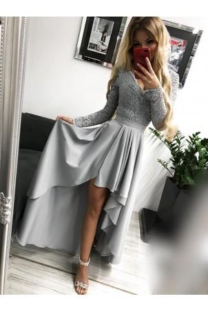 Sukienka wieczorowa Loren - szara