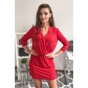 Brokatowa sukienka wieczorowa Shine - czerwony