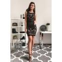 Ołówkowa koronkowa sukienka Star - czarna
