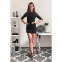 Koronkowa sukienka z cekinami Mohito - czarna