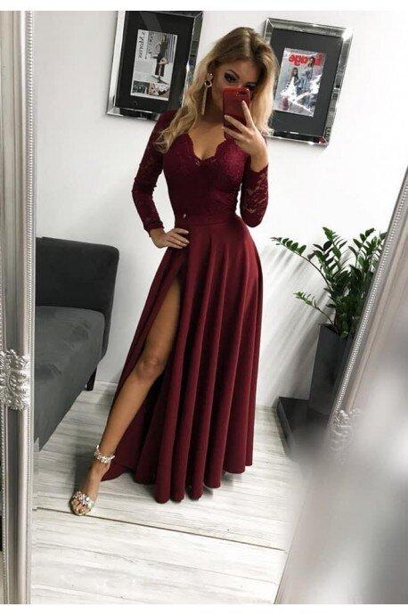 Sukienka wieczorowa Margaret - bordowa