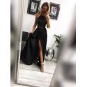 Sukienka wieczorowa Vivien cekinowa - czarna