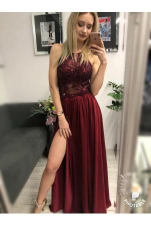 Sukienka wieczorowa Vivien - bordowa