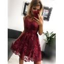 Sukienka wieczorowa Alicja - bordowa