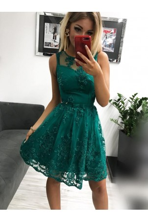 Sukienka wieczorowa Alicja - zielona