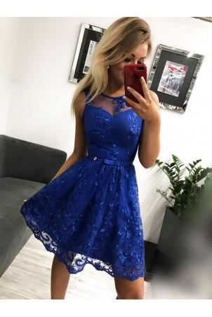Sukienka wieczorowa Alicja - chabrowa