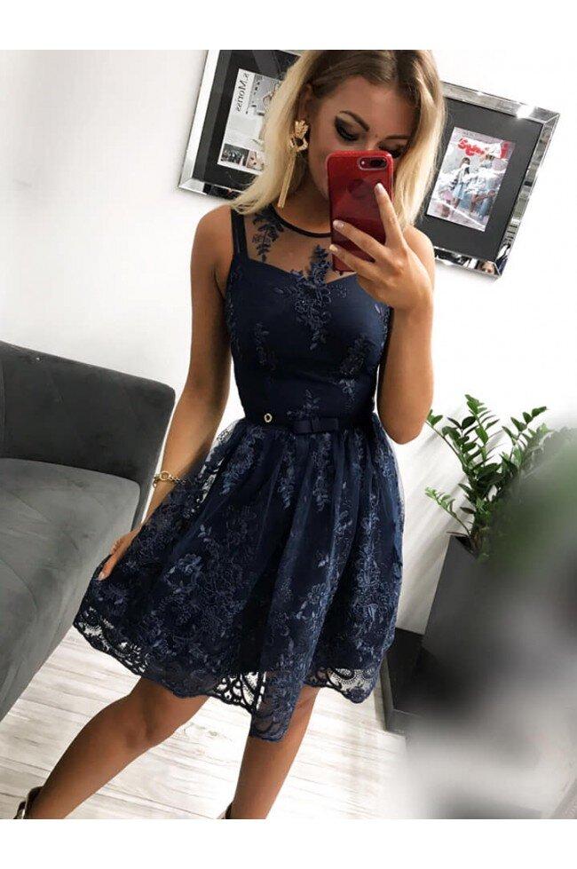 5e6fff7b1e Sukienka wieczorowa Alicja - granatowa - Pretty Clever Sklep internetowy