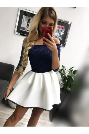 Sukienka wieczorowa Śnieżka - granatowa