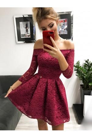 Sukienka wieczorowa Scarlett II - bordowa