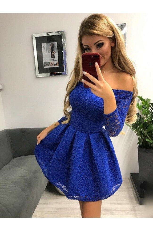 Sukienka wieczorowa Scarlett II - chabrowa