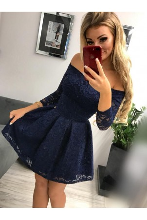 Sukienka wieczorowa Scarlett II - granatowa