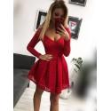 Koronkowa sukienka wieczorowa Kate - czerwona
