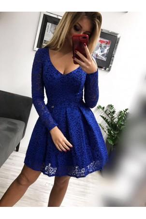 Koronkowa sukienka wieczorowa Kate - chabrowa