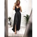 Długa wieczorowa suknia Rubi - czarna