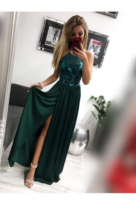Sukienka wieczorowa Vivien - butelkowa zieleń