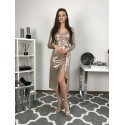 Wieczorowa sukienka midi Goldi - złota