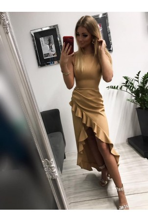 Sukienka wieczorowa Bella - beżowa