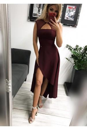 Sukienka wieczorowa Penelope - bordowa